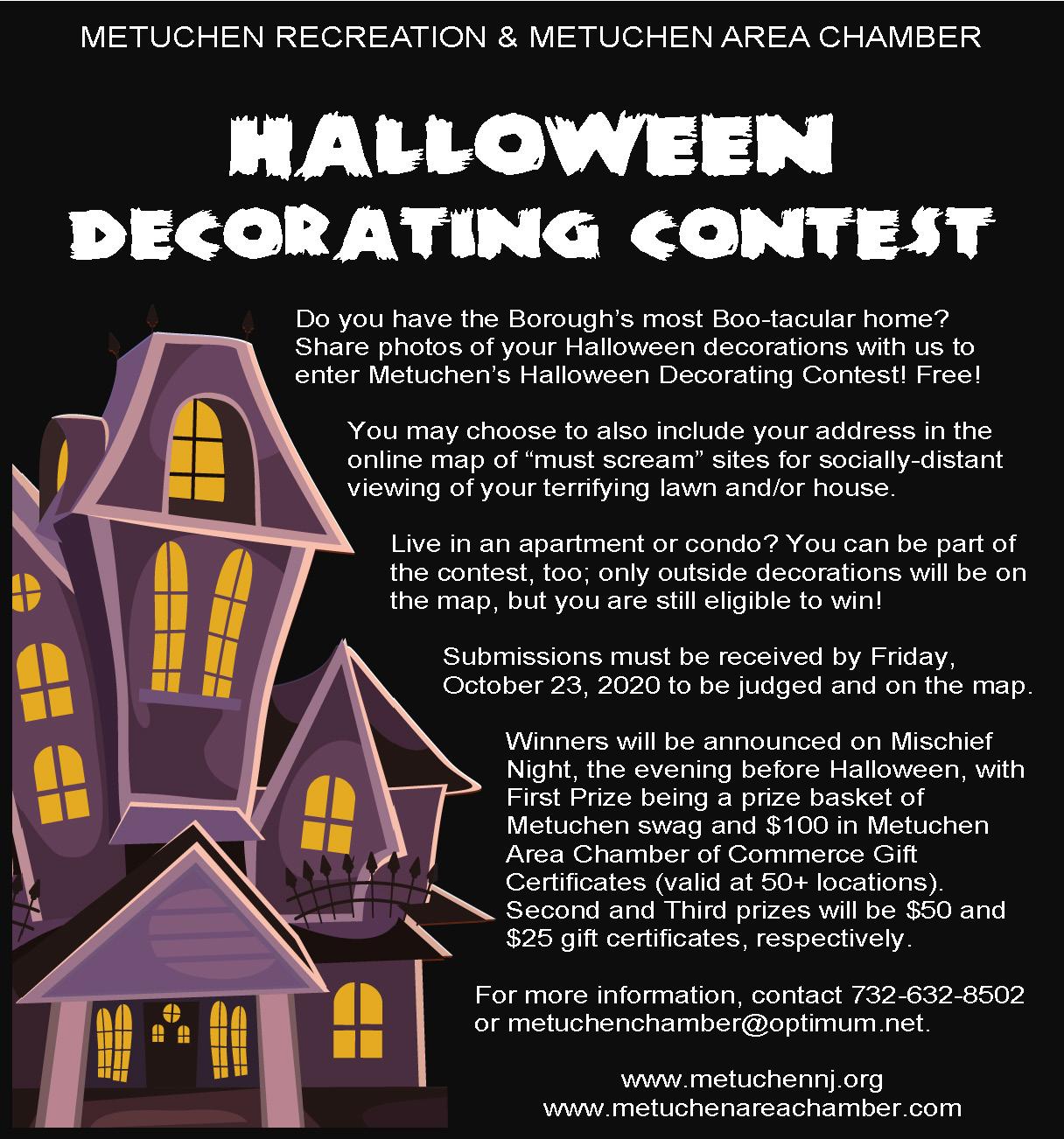Metuchen Halloween 2020 Metuchen Halloween Decorating Contest   Metuchen Area Chamber of